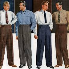 1940s Mens Fashion Trousers