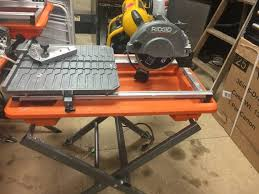 Ridgid 7in Tile Saw With Laser by Kx Real Deals Hastings Auction Tools And Housewares In Hastings