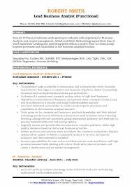 Lead Business Analyst Functional Resume Template