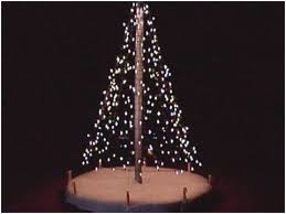 How To Make A Flagpole Christmas Tree Pleasant Made Out Lights Wall Of