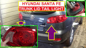 trunk lid light removal and bulb replacement hyundai santa fe