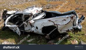 100 Wrecked Truck Badly Involved Rollover Accident Stock Photo Edit Now