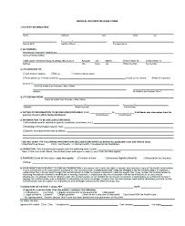 Child Medical Release Template Form Sample Example For