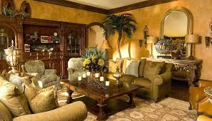 Tuscan Living Room Furniture With Gold Walls Collection