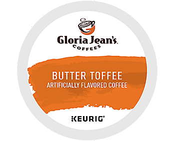 Gloria Jean's K Cup Portion Coffee - for Keurig Brewers, Butter Toffee, 20ct