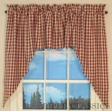 Country Swag Curtains For Living Room by Red Plaid Country Curtains Dashing Swag Swags Raghu Window Curtain