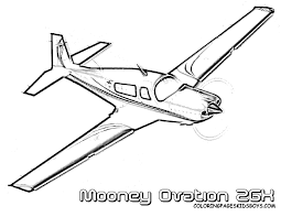 Exciting Airplane Coloring Sheet