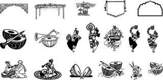 Indian Wedding Reception Clipart 6