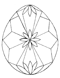 Diamonds Easter Egg Coloring Pages