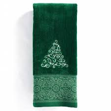 St Nicholas SquareR Ensembles Fancy Tree Hand Towel Green