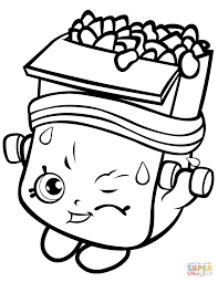 Cake Wishes Shopkin Coloring Page