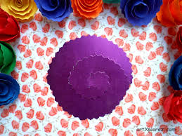 Paper Rose Flower Step 1
