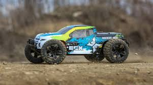 ECX 1/10 Ruckus 4WD Monster Truck Brushed RTR, Green/Blue | Horizon ...