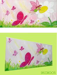 tableau chambre enfant tableau pour enfant abeille fleurs
