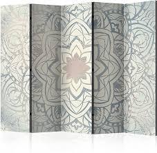 murando raumteiler pinnwand foto paravent mandala ornament 225x172 cm beidseitig auf vlies leinwand bedruckt trennwand spanische wand