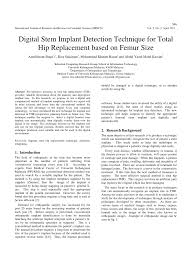 si e orthop ique digital stem implant detection technique pdf available
