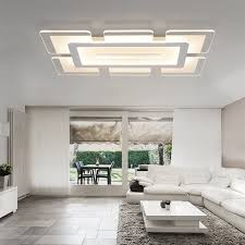modern led ceiling light rectangular and square living room light acrylic creative bedroom ceiling l ac85 265v