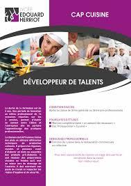 formation cuisine cap cuisine lycée edouard herriot