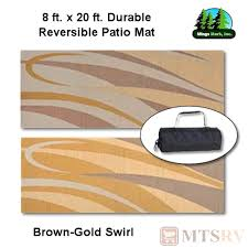 Reversible Patio Mats 8 X 20 by Mmi Reversible Patio Mat 8x20 Ft Brown Gold Swirl Durable