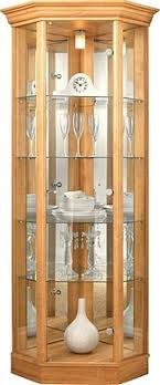 wood display cabinet glass display cabinet corner unit mirrored