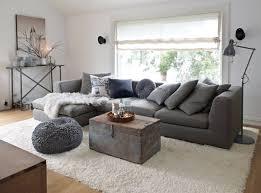 modèle deco salon canape gris gray living rooms and salons