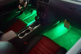 High Quality 4 PCS Car Interior Light Accessories Decorative Led Strobe Lights