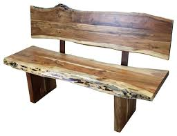 Western Wood Bench With Back Rustic Indoor Benches Tres Wood Bench