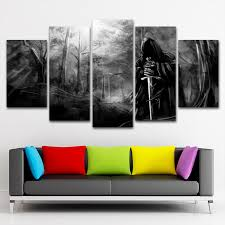 Dark Forest Canvas Painting