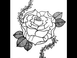 How To Draw A Rose New Skool Tattoo Style PART 1
