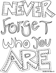 Good Quote Coloring Pages 75 For Picture Page With