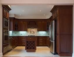 dark kitchen cabinets light floor dark atmosphere of kitchen