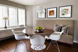 Inspiration For A Modern Dining Room Remodel In Detroit With Gray Walls And Dark Hardwood Floors
