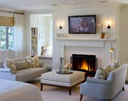 Lovely Interior Design Ideas White Living Room TV Stand Fireplace Mantel RugDots