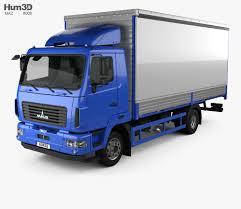 100 Maz Truck MAZ 4381 Box 2017 3D Model Vehicles On Hum3D