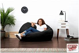 Fuf Bean Bag Chair By Comfort Research by Fuf Black Suede Large Bean Bag Chair Comfort Research Love