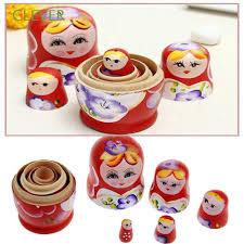 100 Matryoshka Kitchen Home Decoration Hand Painted Toy DIY Babushka Russian Nesting Dolls