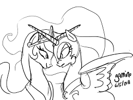 Little Pony Nightmare Moon Coloring Pages