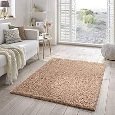 shaggy teppich flauschiger hochflor für wohnzimmer schlafzimmer kinderzimmer oder flur läufer einfarbig schadstoffgeprüft allergikergeeignet