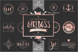 Illustrator Logo Templates Luxury Girlboss Template Bundle Sale Creative Market