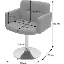 esszimmerstuhl houston küchenstuhl drehstuhl stuhl kunstleder chrom taupe grau