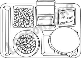 28 Collection Of School Lunch Clipart Black And White