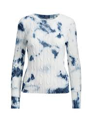 tie dye cable knit sweater scoop crew u0026 boatnecks sweaters