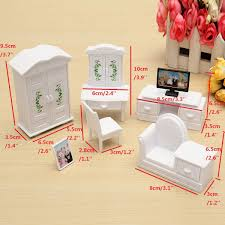 Doll Dollhouse Furniture Set Wooden Dolls House Miniature Accessory