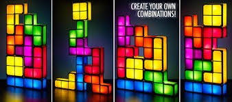 Tetris Stackable Led Desk Light by Tetris Light Pieces Illuminate On Contact