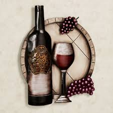 Wine Themed Kitchen Set by Cellar Reds Wine And Grape Metal Wall Art