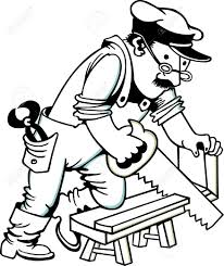 Carpenter Clipart Black And White
