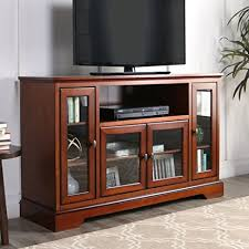 WE Furniture 52quot Wood Highboy Style Tall TV Stand