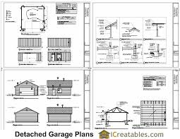 free garage plans 24 24 plans diy free download free wood cradle
