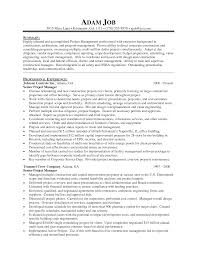 Resume Sample Project Manager Resumes Sles Sle Management Templates Examples