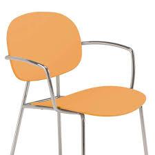 esszimmerstuhl in orange chrom homlet 2er set